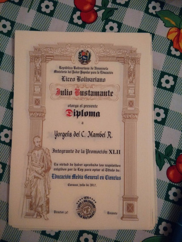 diplomas pergamino italiano alemán preescolar bachiller tsu