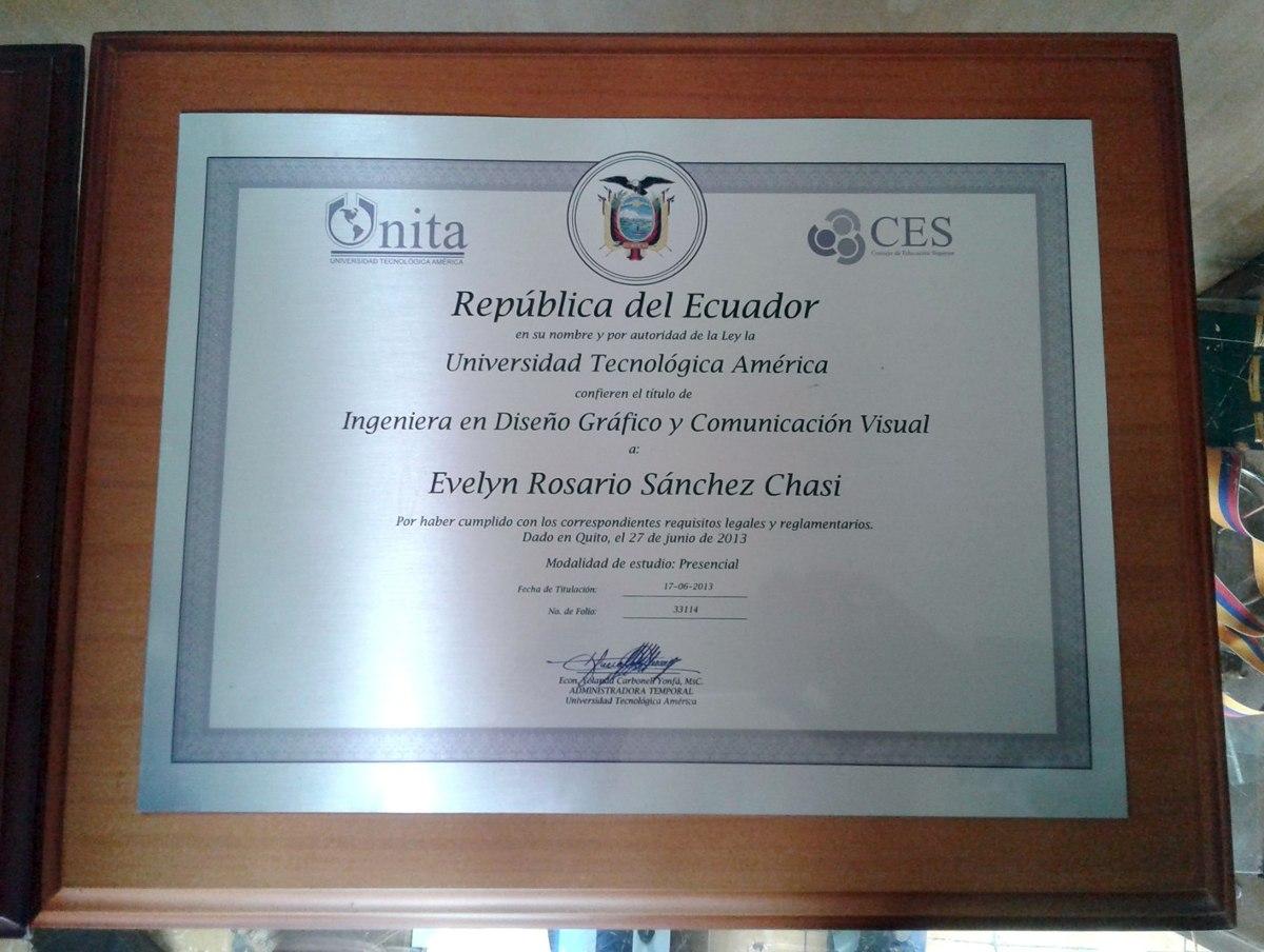 Diplomas Titulos Enmarcados Reproducidos En Metal Calidad - U$S 40 ...