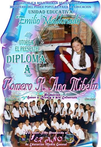 diplomas y/o certificados personalizados