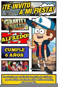 Dipper Gravity Falls Invitación Digital Cómic