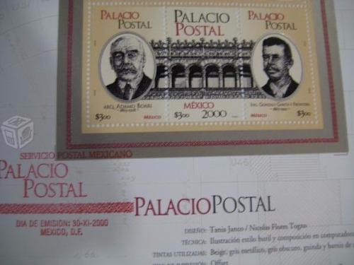 dipticos con timbres mexico 2000 palacio postal