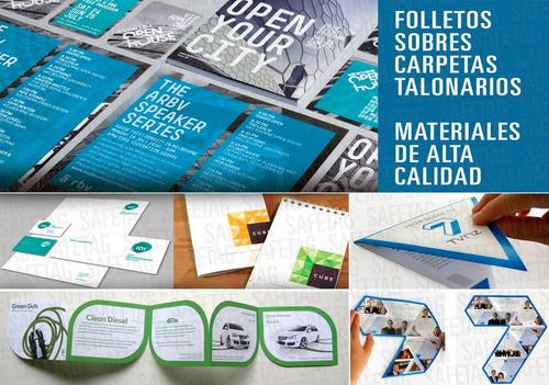 dipticos tripticos catalogos flyer folletos catalogos revistas carpetas sobres entradas mapas libros volantes hojas