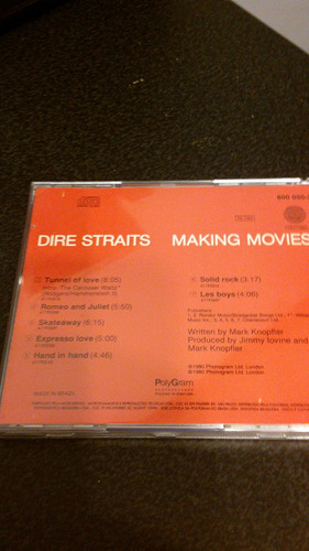 dire straits - making movies cd impecable