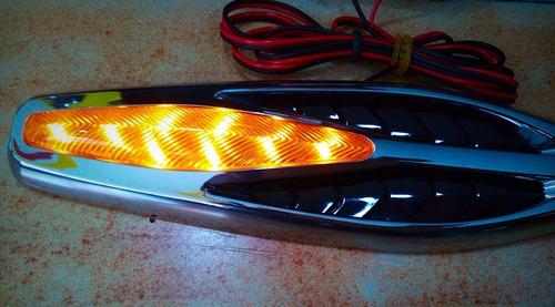 direccionales cromadas adhesivas 8 led o 32 led carro moto