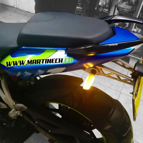 direccionales led moto ambar brillante kit x 4 tipo rizoma