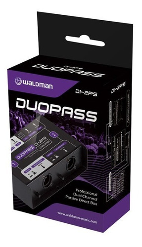 direct box di 2ps passivo duplo duopass - waldman