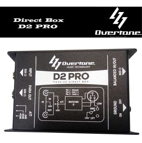 direct box passívo overtone ds pro high performance 1 canal