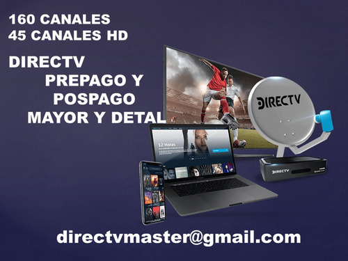directv television full  hd 160 canales