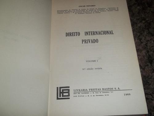 direito internacional privado vol. 1 assinado oscar tenório