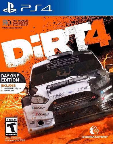 dirt 4 day one edition ps4 físico sellado envío grátis.