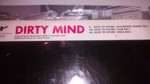 dirty mind back to the future vinilo maxi italy excelente
