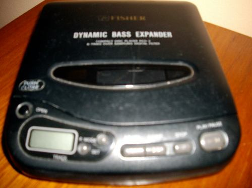 discman marca fisher dynamic bass expander , no funciona