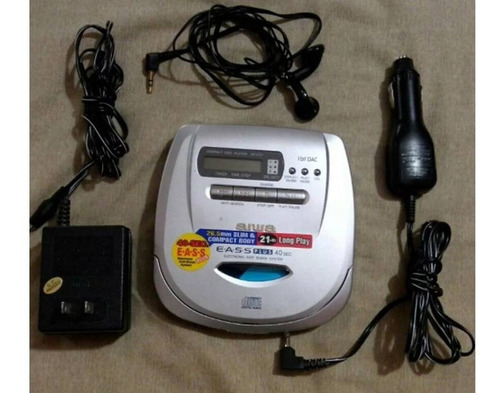 discman reproductor portatil compact disc player aiwa xp-v70