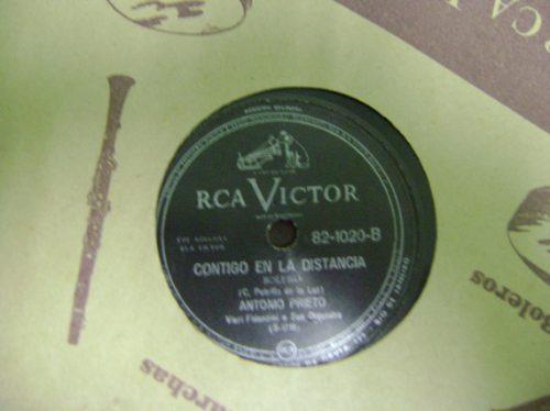 disco 78 rpm antonio prieto - raro