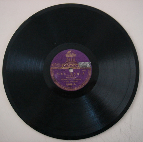 disco 78 rpm - benedicto lacerda - odeon 11.609
