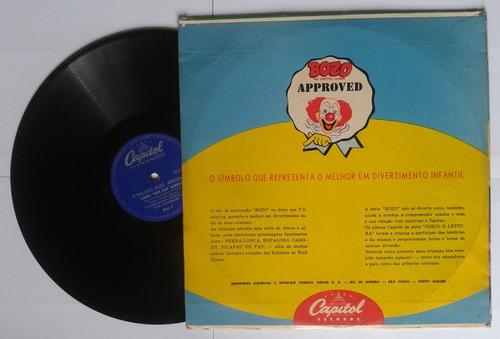 disco 78 rpm bozo 1954 canções sobre boas maneiras ( leia )
