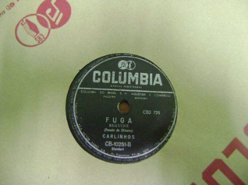 disco 78 rpm carlinhos - os pobres de paris