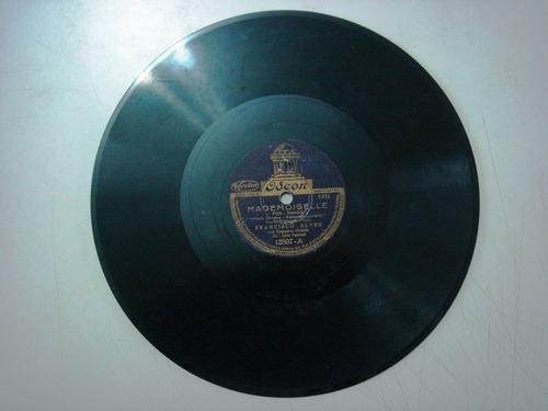 disco 78 rpm - francisco alves -odeon 12.807