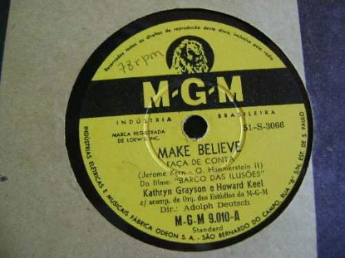 disco 78 rpm jerome kern do filme barco das ilusões