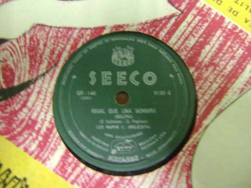 disco 78 rpm leo marini com orquestra - igual que una sombra