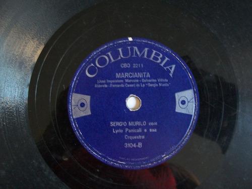 disco 78 rpm sergio murilo-se eu soubesse/marcianita .