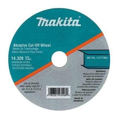 disco abras corte metal makita 4,1/2 x1/8 x7/8  d-20993