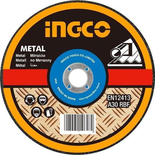 disco abrasivo corte metal 9  x 1.6mm centro plano ingco  pa