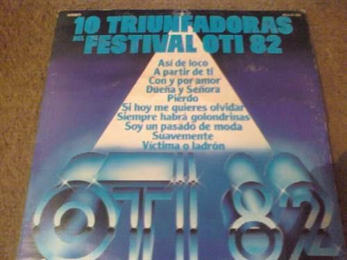 disco acetato 10 triunfadoras  festival oti 82