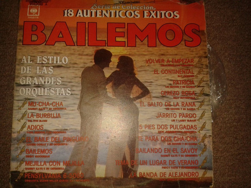 disco acetato: 18 autenticos exitos bailemos