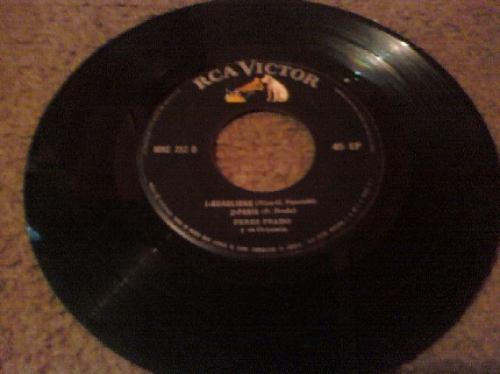 disco acetato 33 rpm de perez prado y su orquesta