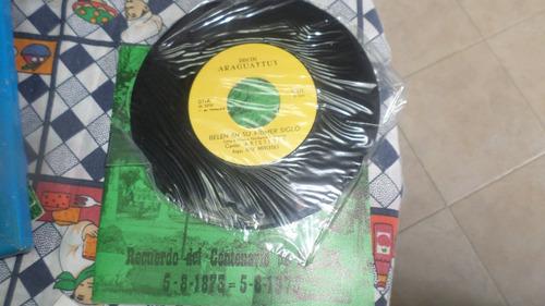 disco acetato  45 rpm nuevo  centenario de belen -carabobo