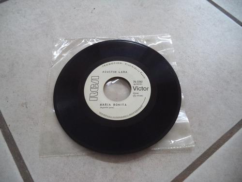 disco acetato agustin lara maria bonita
