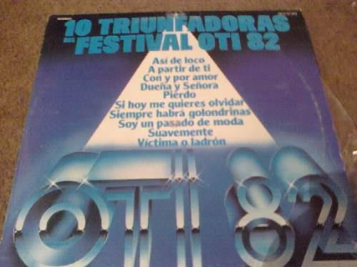 disco acetato de 10 triunfadoras del festival oti 82