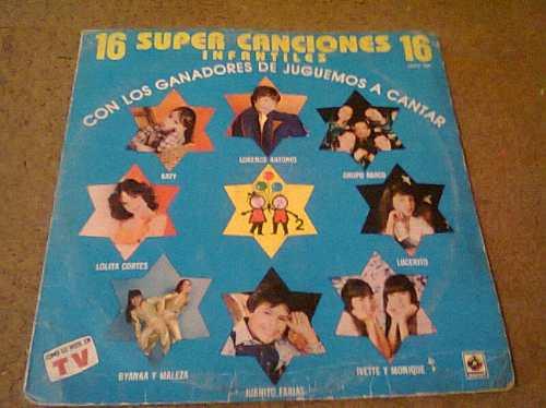 disco  acetato de 16 super canciones infantiles con los gana