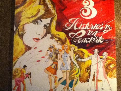 disco acetato de:  3 historias y un concierto