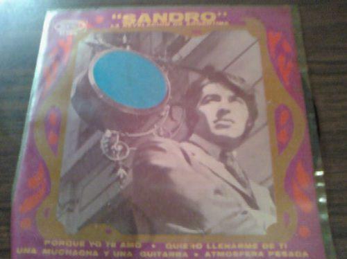 disco acetato de 45rpm de sandro la revelacion de argentina