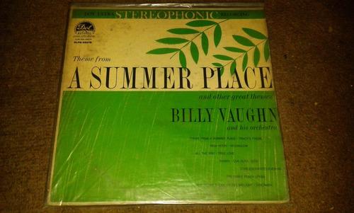 disco acetato de a summer place, billy vaughn