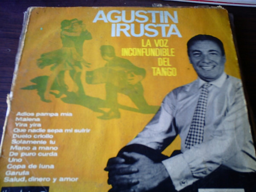 disco acetato de agustin irusta la voz inconfundible del tan