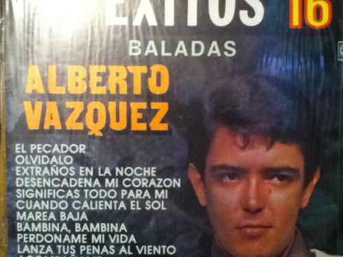 disco acetato de: alberto vazquez 16 exitos