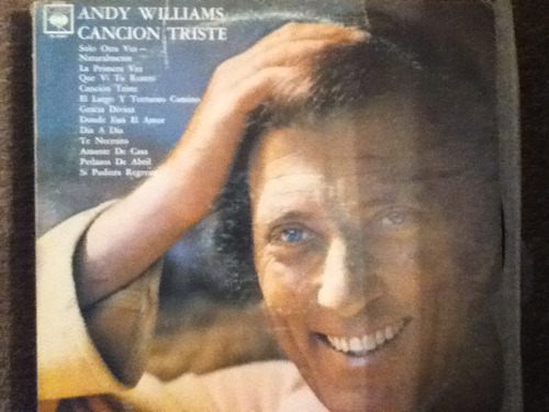 disco acetato de: andy williams - cancion triste