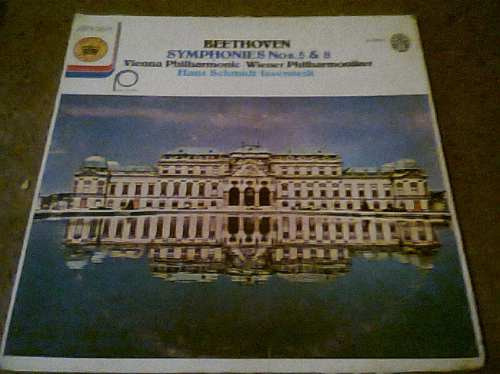 disco acetato de  beethoven symphonies nos.5&8