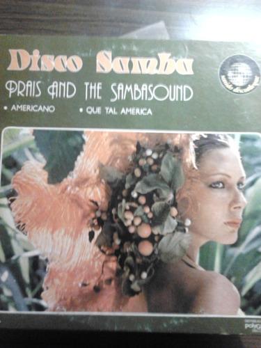 disco acetato de disco samba prais and the sambasound