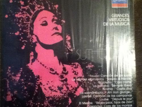 disco acetato de: el mundo de joan sutherland