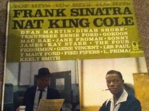 disco acetato de: frank sinatra nat king cole 3 discos
