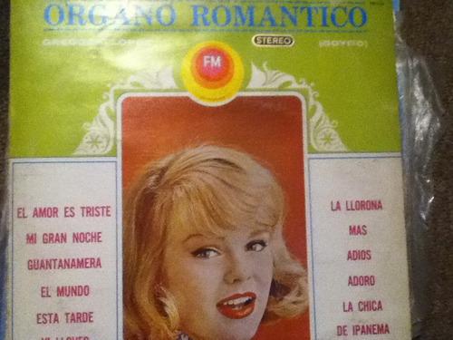 disco acetato de: gregorio lopez organo romantico