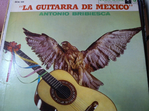 disco acetato de la guitarra de mexico, antonio bribiesca