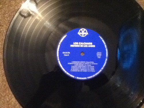 disco acetato de:  los calchakis misterio de los andes