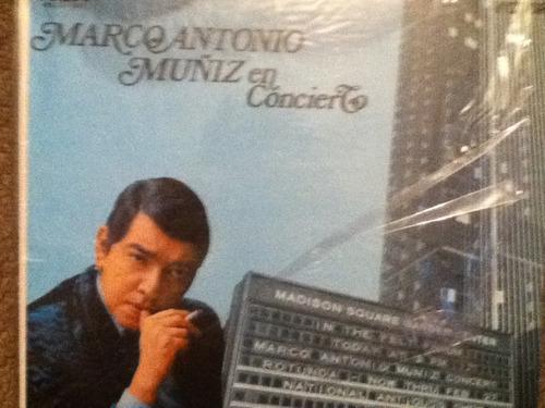 disco acetato de: marco antonio muñiz en concierto