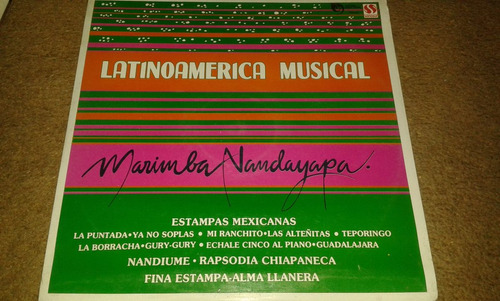 disco acetato de marimba nandayapa, latinoamerica musical