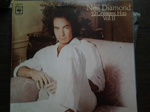 disco acetato de neil diamond 12 grandes hits vol.ii